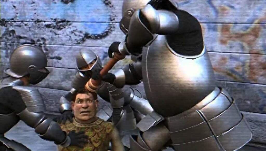 Hidden Easter Eggs On Twitter In Shrek 2 2004 The Guards Grind Pepper Directly On Shrek S Eyes Since Pepper Spray Didn T Exist Yet