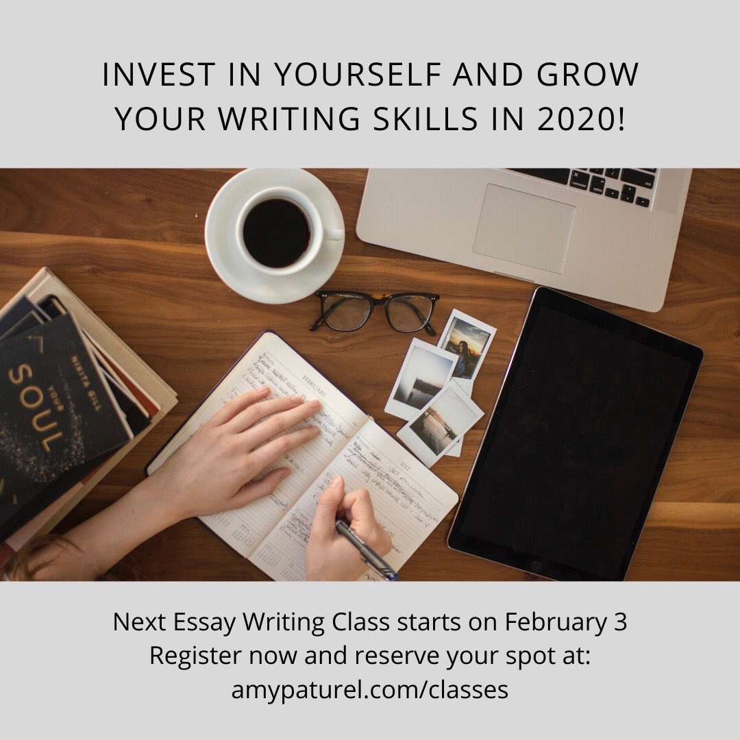 Replying to @amypaturel: My essay class is filling up quickly. Reserve your spot ASAP.