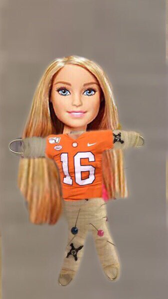 LSU fans be working the voodoo dolls right now.  #CFBPlayoff