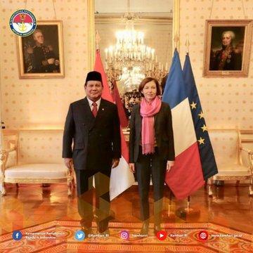 Kunjungan bilateral Menhan Prabowo ke Menhan Perancis