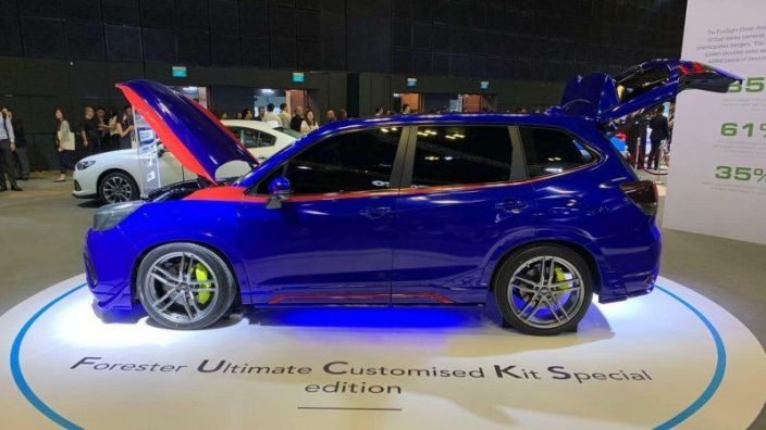 Subaru is all wet. This perky Forester Ultimate Customized Kit Special edition, at the #SingaporeMotorShow is hard to beat. Look for stiff competition. pic.twitter.com/ngopbyrGuW