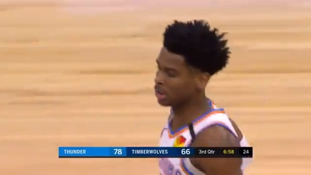 👏 @shaiglalex notches his first career triple-double with 20 PTS, a career-high 20 REB, and 10 AST in the @okcthunder win! #ThunderUp  https://t.co/YAAzMl9bul