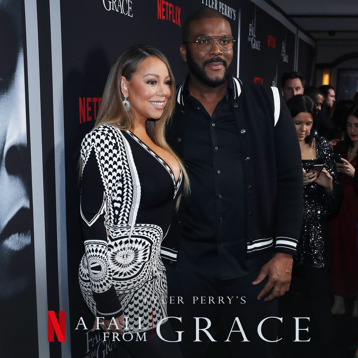 Thank you @mariahcarey for coming out to support me tonight at the premiere!  #AFallFromGrace 📷: @bennett_raglin