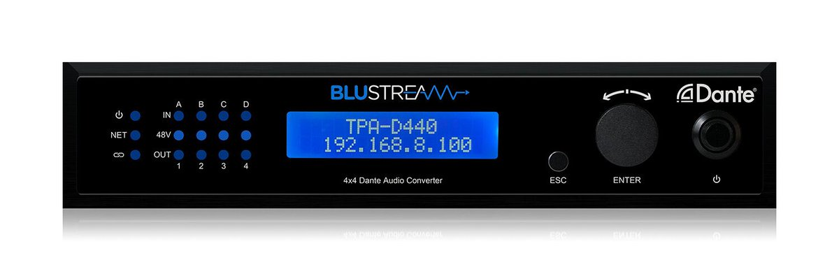 New Dante 4x4 digital audio converter in stock. Find out more -  https://www.blustream.co.uk/da44au  #audiointegration #dante #networkaudio #newproduct #ISE2020 @Install_Mag @EILiveShow @AVTechnologyMag @AVForums @AVMagpic.twitter.com/04kQ0AYByy