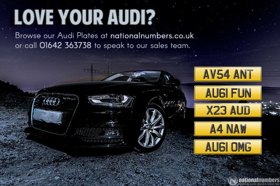 Love your Audi? Lucky you! We have a huge range of Audi plates available across our website. https://www.nationalnumbers.co.uk/number-plates/car/audi/?keyid=SM30…  If you can't find what you're after, our sales team probably can.   Give them a call on 01642 363738. #CarofTheWeek #Audi #Avant #PrivateRegpic.twitter.com/U6M4zBNc05