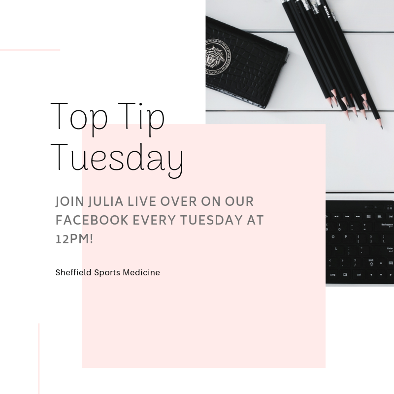 TOP TIPS FOR THE GYMJoin Julia as she gives you top tips to keep you motivated in completing your sessions!#physio #fitness #sheffield #health #toptips #gymtips pic.twitter.com/EOfvD1QL8A