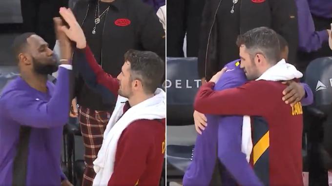【影片】這一幕看哭球迷!老詹賽後和愛神TT敘舊,这套慶祝動作他們都沒忘記!-Haters-黑特籃球NBA新聞影音圖片分享社區