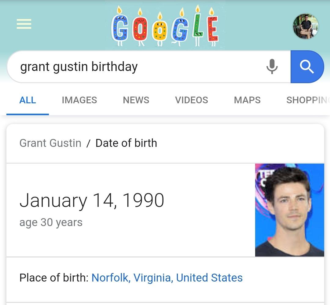 Ok I have the same birthday as Grant Gustin. Technically Im the Flash. Happy Birthday