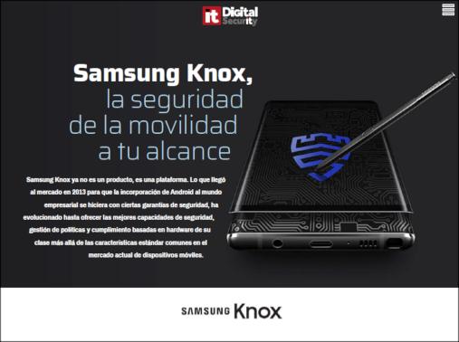 #RevistaDigital #ITDSEnero  Samsung Knox permite dar respuesta a la necesaria estrategia de movilidad empresarial que debe adoptarse en un proceso de digitalización.  (Una vez abierta en el navegador, guardar en el equipo y leer con Adobe Reader)   http://bit.ly/ITDS_KnoxJRpic.twitter.com/TB4iFFjvCF