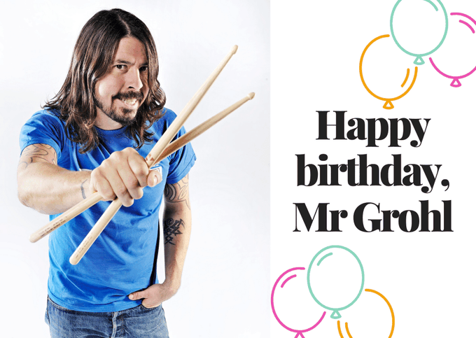 Happy birthday, Dave Grohl!   Photo by Joby Sessions/Rhythm