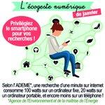 Image for the Tweet beginning: #MardiConseil   L'éco-geste numérique du