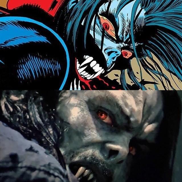 Comparação do personagem Morbius nas Hqs e no cinema. Estão ansiosos para o filme?pic.twitter.com/LbfKziGmWW