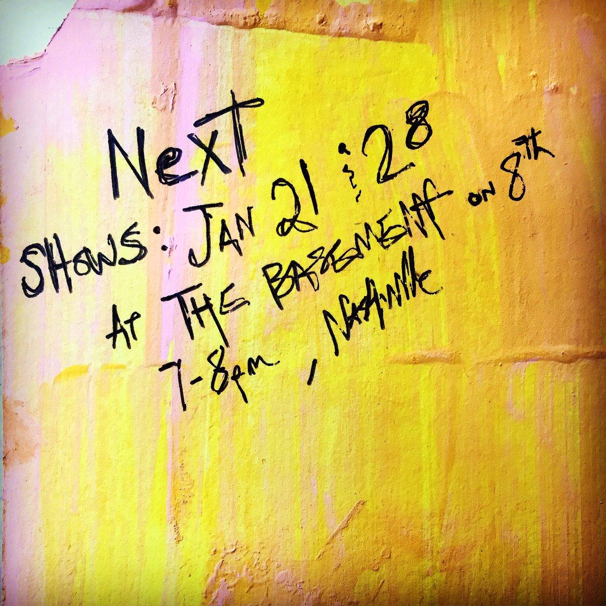 Next Shows: Jan 21 and Jan 28 at @TheBasementNash 7-8pm https://t.co/yaB1AbWVyn