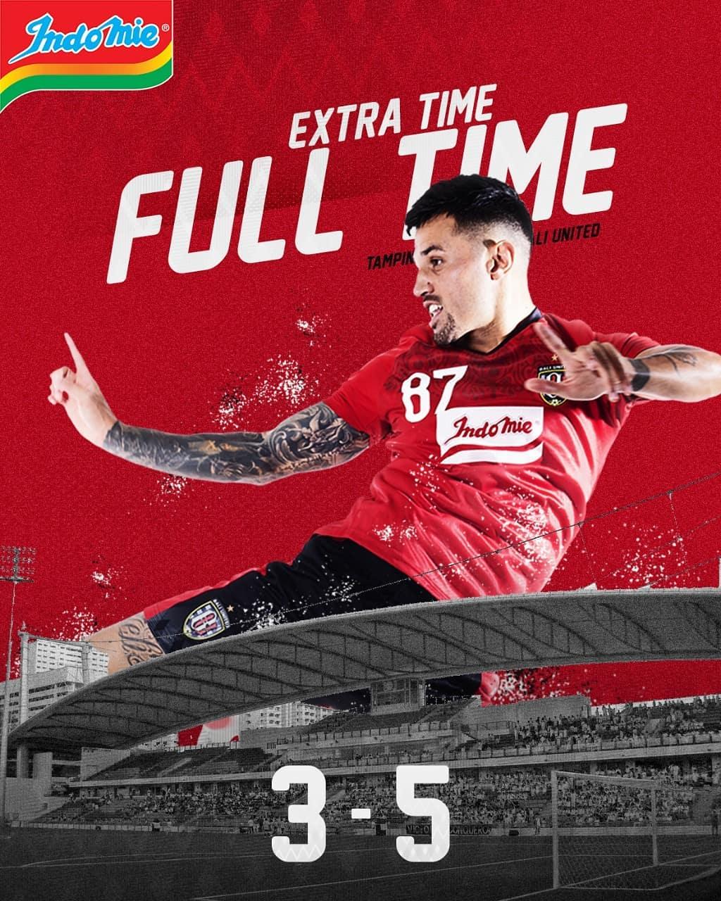 Hasil pertandingan Tampines Rovers 3-5 Bali United