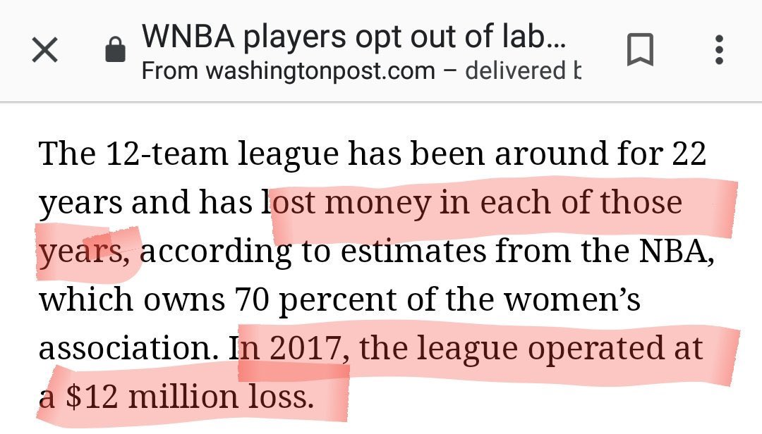 With whose money? It's been subsidized by the NBA since its creation.