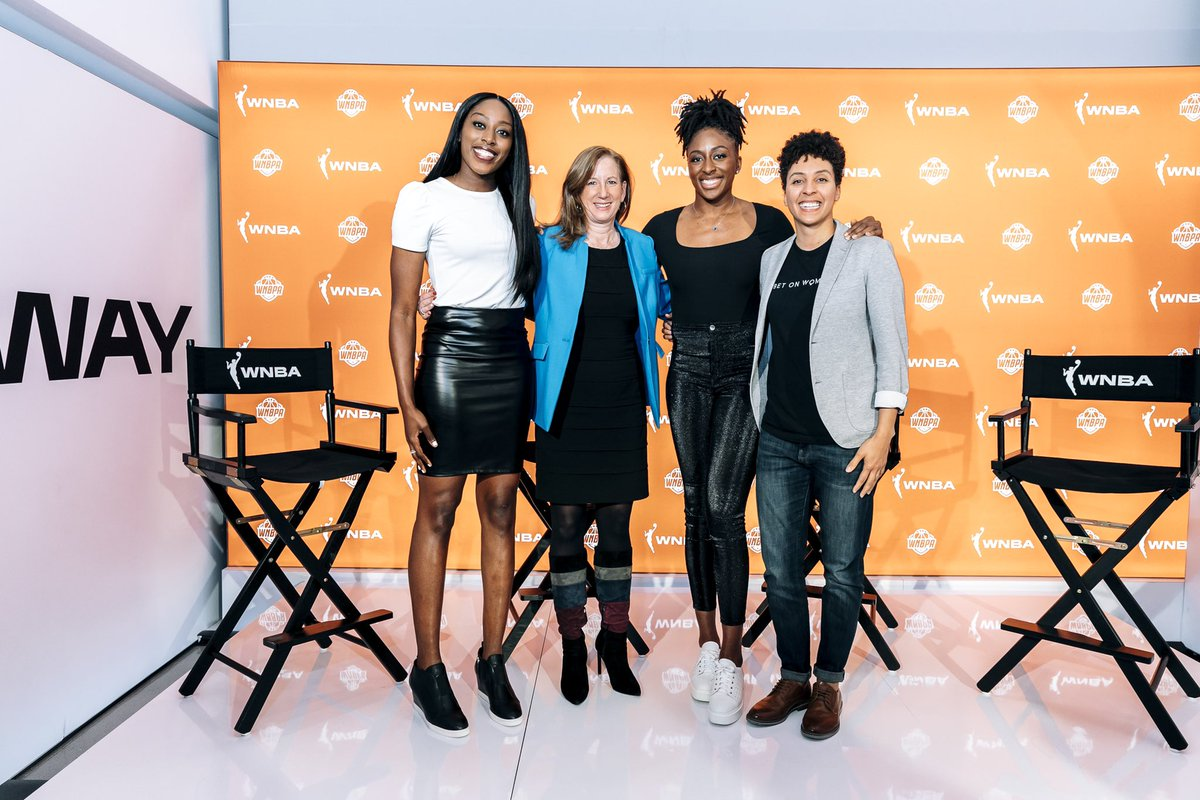 Look at this group making things happen. Yassss. THE WNBA IS SO IMPORTANT