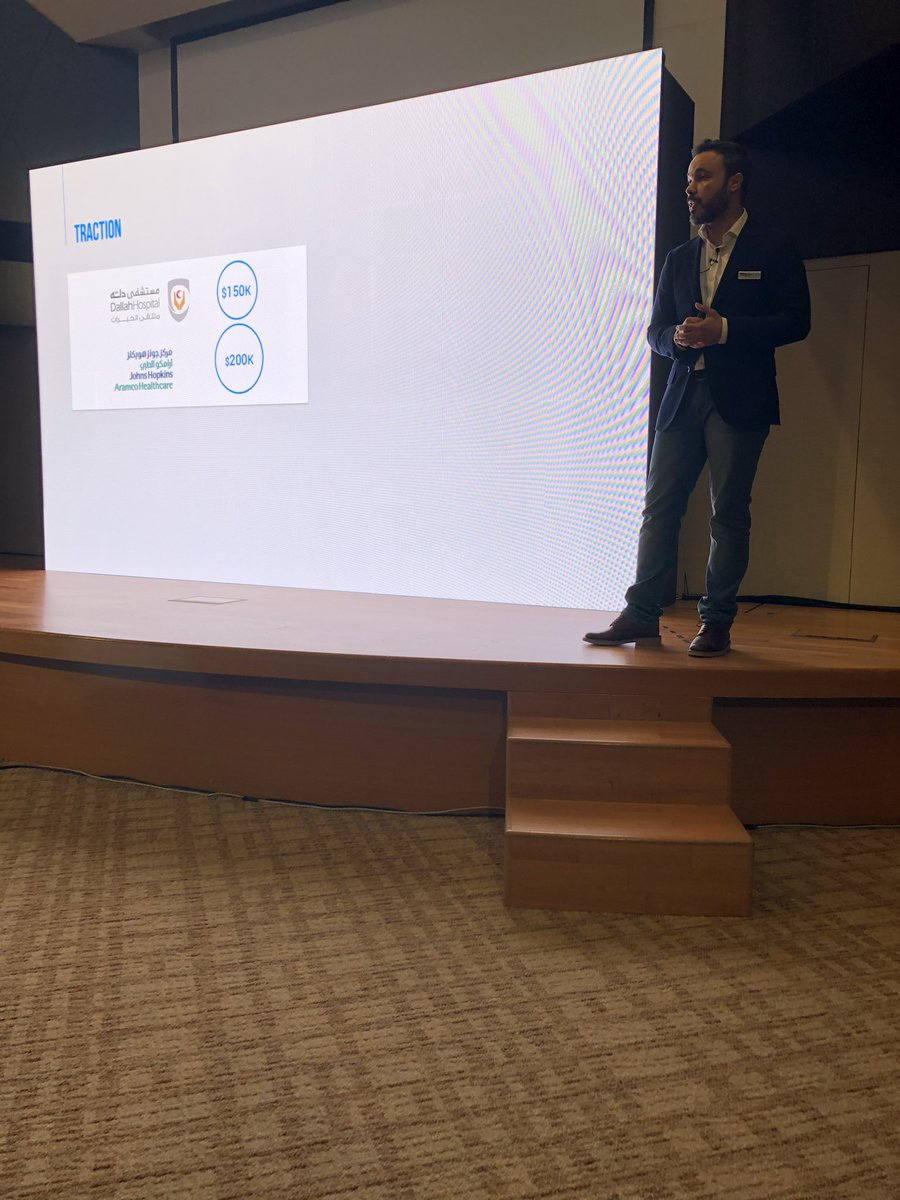 Faisal is a serial entrepreneur pitching his third startup @nearmotion that provides an easy to use platform enabling shopping malls, airports, exhibitions and even hospitals to welcome, guide and reward customers. #digitizingourlife #DSCADDay3 https://t.co/iZVTm4Iu7m