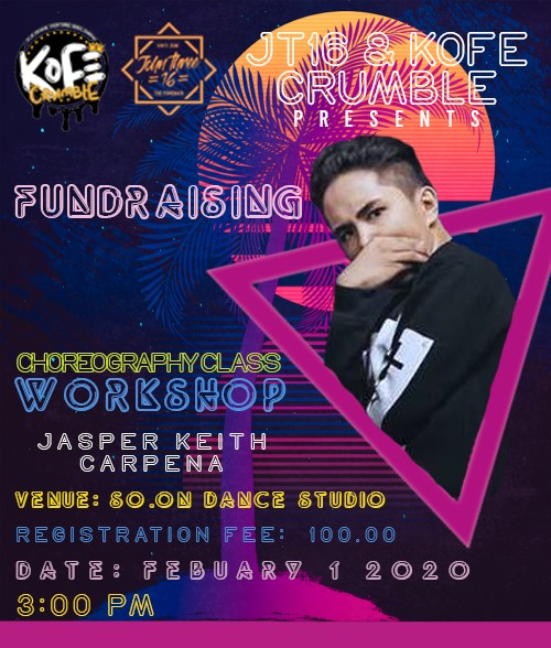 What's Up peepz? 🔥‼️  We will be having a fundraising workshop this coming Febuary 1, 2020. Registration starts at 3pm at the So. On Dance Studio.   Come thru and see you guys there! God bless ya'll!   #FundraisingWorkshop #ChoreoClass #BBC #JT16 #KOFECRUMBLE https://t.co/AYLDCcBBWn