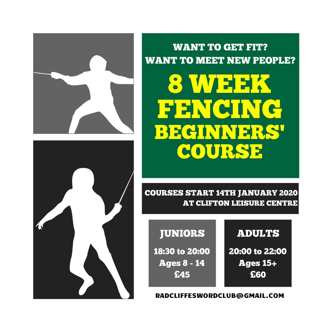 It's the first night of our new beginners' courses tonight. We're looking forward to meeting everyone. There's still time to join. #fencing #fencingclub #nottingham #notts #eastmidlands #januarypic.twitter.com/gpjx3layWa