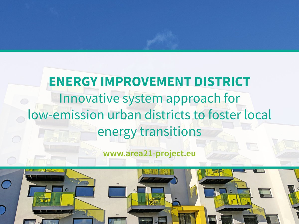 How to improve #energyefficiency with the concept of an energy improvement district? Check out what #MadeWithInterreg @Area21_project is offering.
