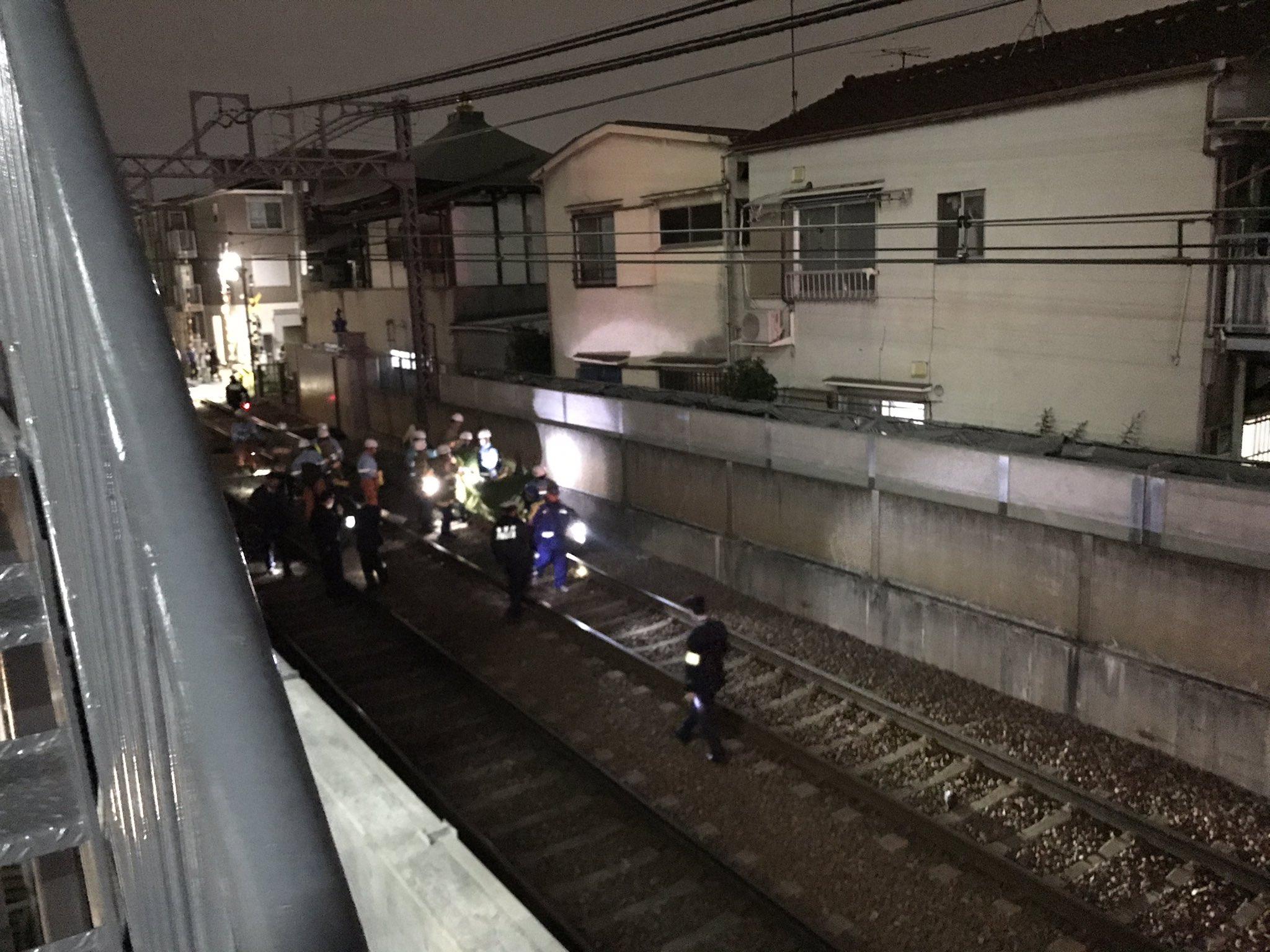 京急空港線の糀谷駅~大鳥居駅間で人身事故が起きた現場の画像