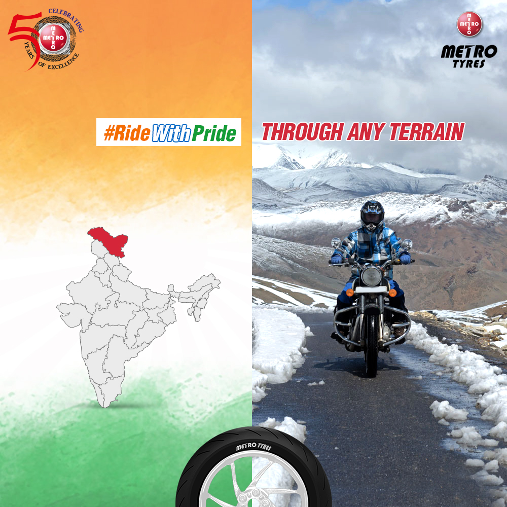 #RideWithPride and explore the roads of #Laddakh in blood-chilling snow-clad roads for an adventure of a lifetime.   #RidersForLife #MetroTyres #MetroBikeTyres #RidingMotivation #MotorCycleTyres #MotorBikeTyres #TurnBoldpic.twitter.com/KL9krbHxuf