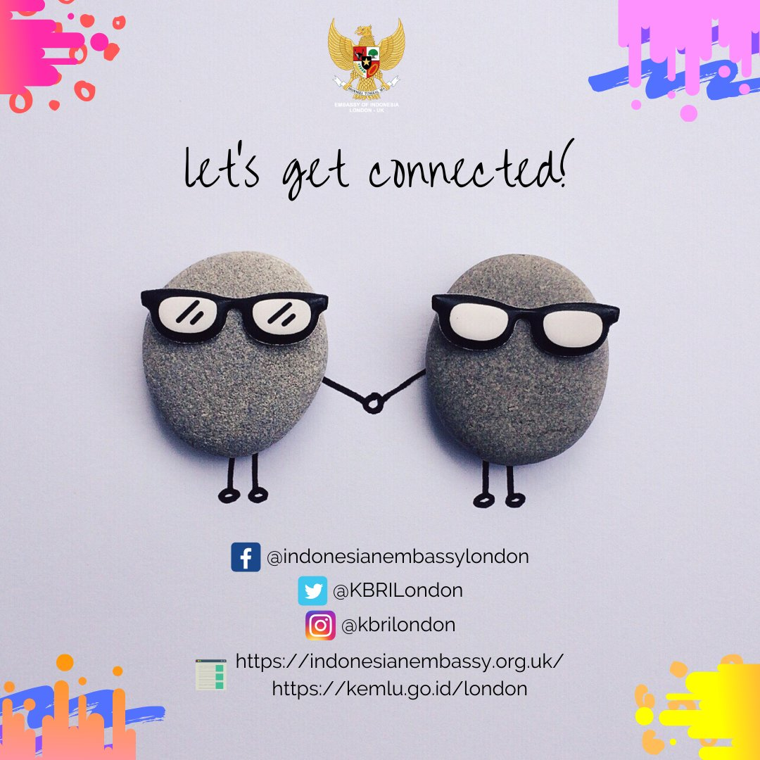 Missing the latest information and news from the Indonesian Embassy in London & the Indonesian community? Worry not! Make sure you check our websites & follow our social media accounts! #IndonesianWay #IniDiplomasi #NegaraMelindungi #RintisKemajuan #DemiNKRI #IndonesiaUntukDunia https://t.co/CXOx0U6Sbs