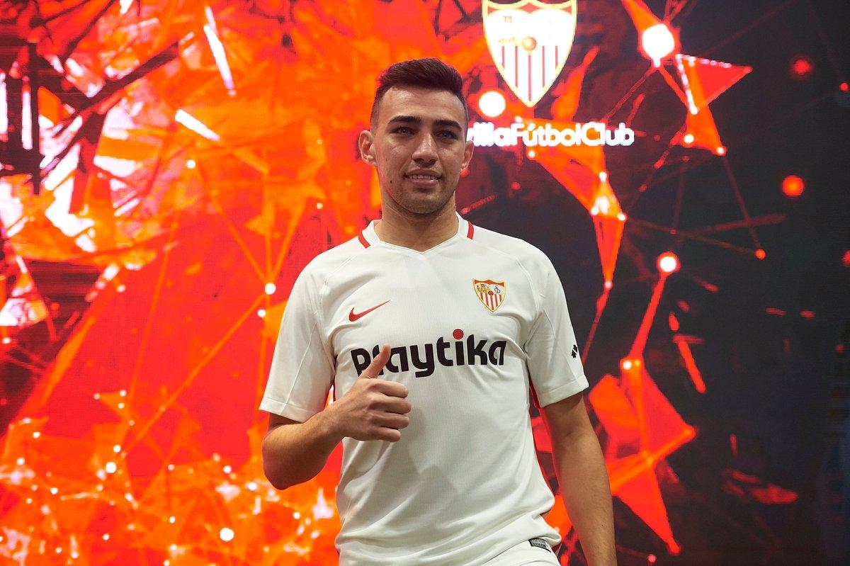 #OTD in 2019, Sevilla unveiled new signing Munir    #UEL