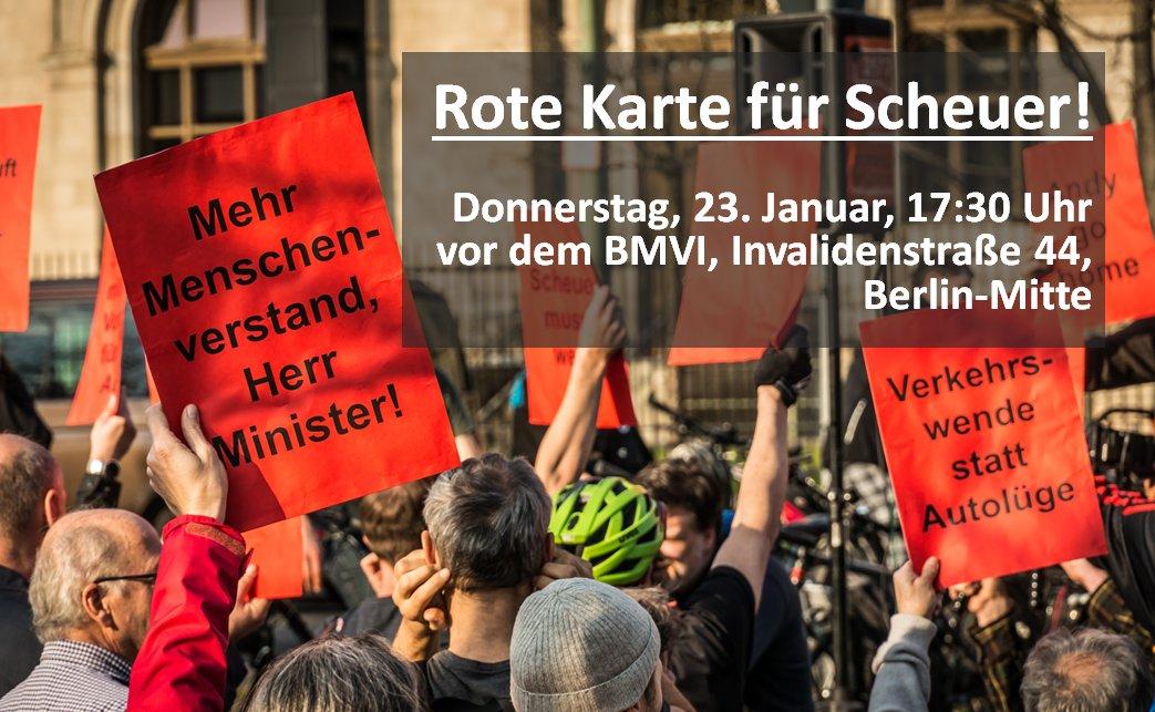 Rote Karte für Scheuer!