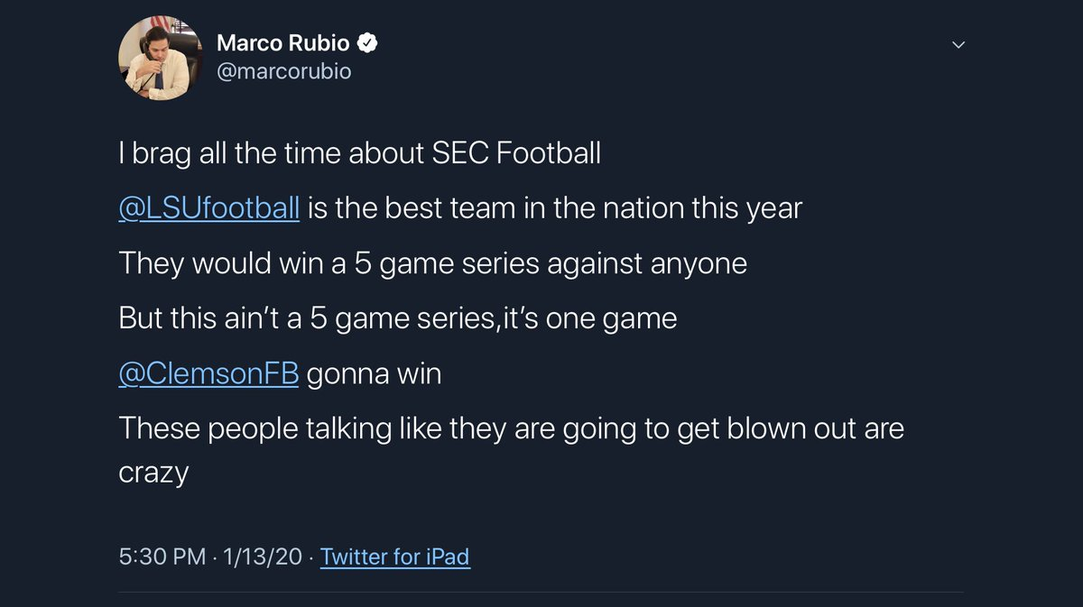 I told you @LSUfootball was going to win big.