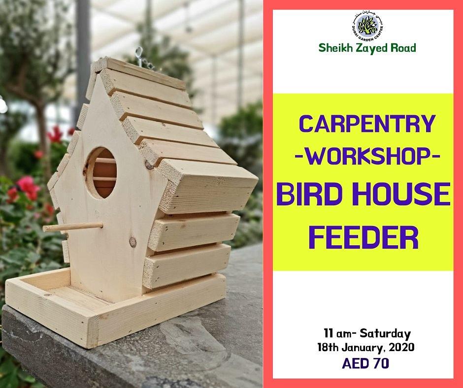 Beautiful #birdhouse feeder Another fun #carpentry #workshop for your little ones!  Hurry Limited slots only! DM now #dubaievents #dubaievent #dubaikids #dubaicity #kids #workshopforkids #diy #diywoodwork #diytoys  #doityourself #workshopforkids #workshopforchildrenpic.twitter.com/HRqnbe7h0B