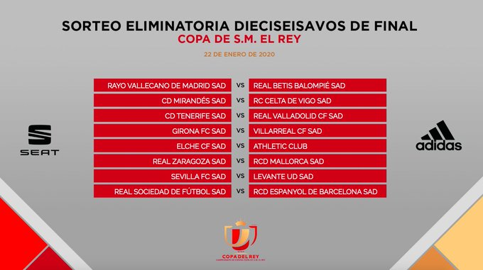 EOPeirvX0AMVUA5?format=jpg&name=small Sorteados los dieciseisavos de final de la Copa del Rey - Comunio-Biwenger