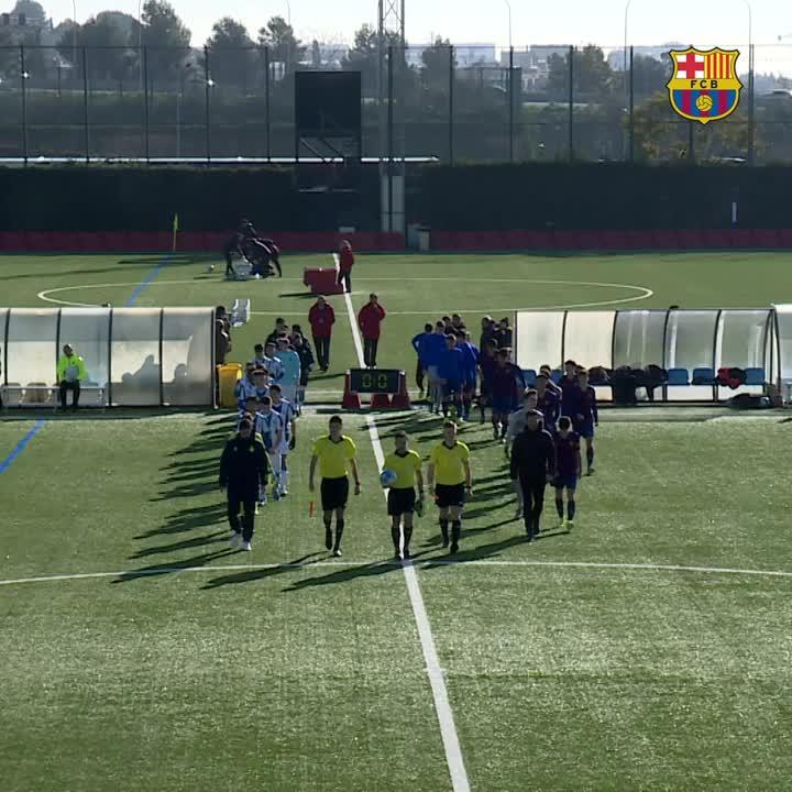 👏 Així va ser la victòria del Cadet A davant l'Espanyol (2-1)  #FCBMasia #ForçaBarça 🔵🔴