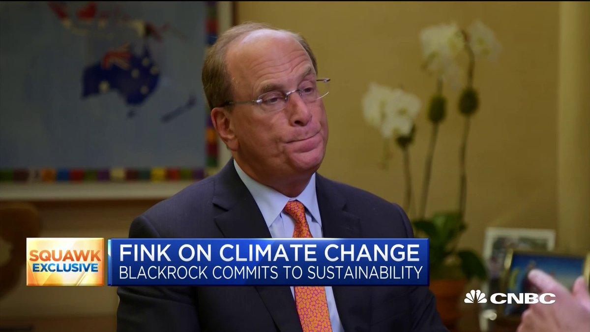 """""""I believe we are just beginning a major reallocation of capital."""" Here's how climate change will reshape finance, according to BlackRock CEO Larry Fink. https://cnb.cx/2FKsPf8"""