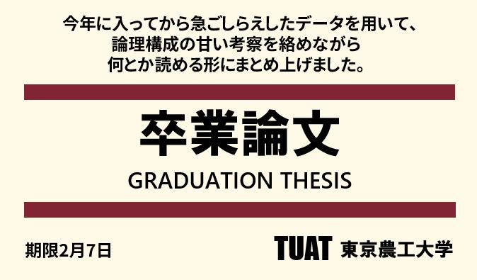 卒論シーズンなので,去年作った無印良品風「卒業論文」を再掲しておきます