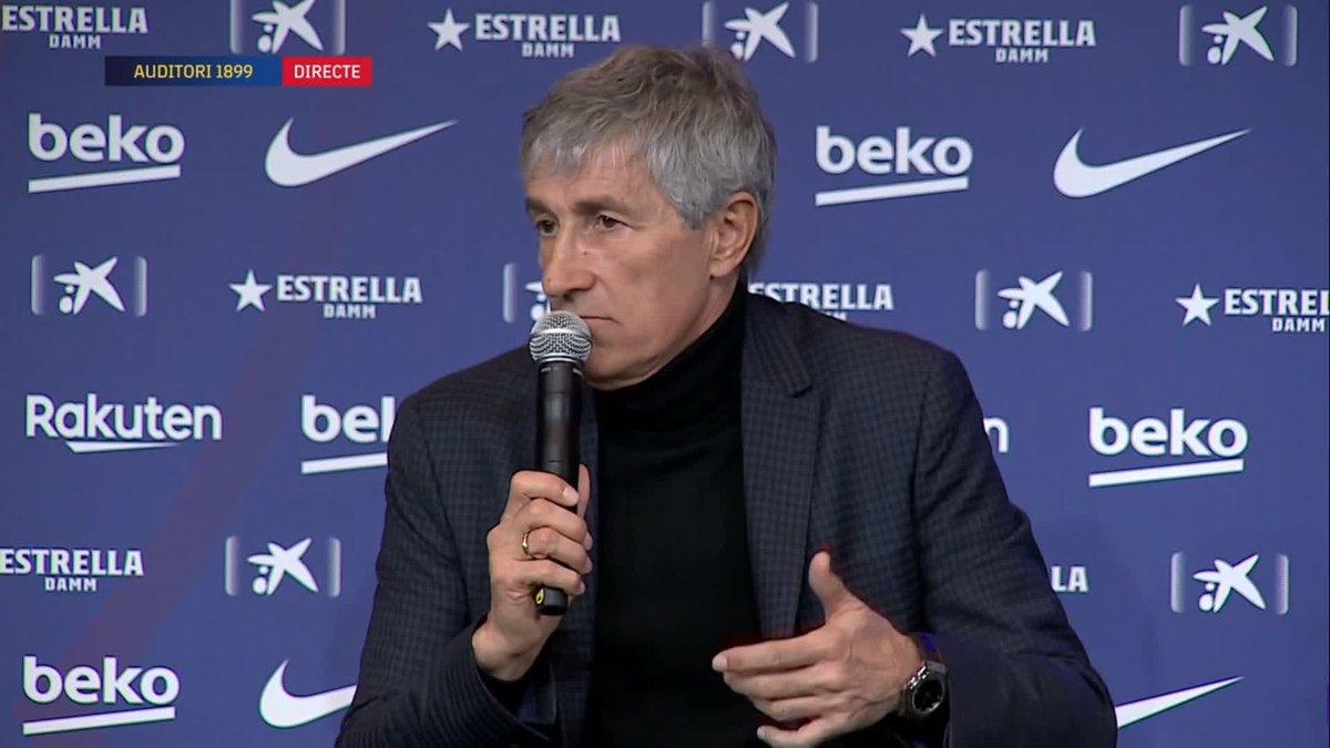 """🎙 @QSetien: """"Aquest club té un futbol base extraordinari. Si els joves s'ho guanyen, poden arribar al primer equip"""""""