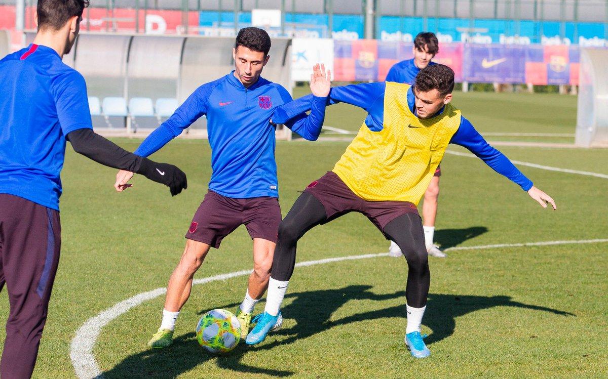 💪 Els juvenils Nils i Antonio Jesús han entrenat avui amb el Barça B.  🏠 La Masia, el futur del Barça!  #ForçaBarça🔵🔴