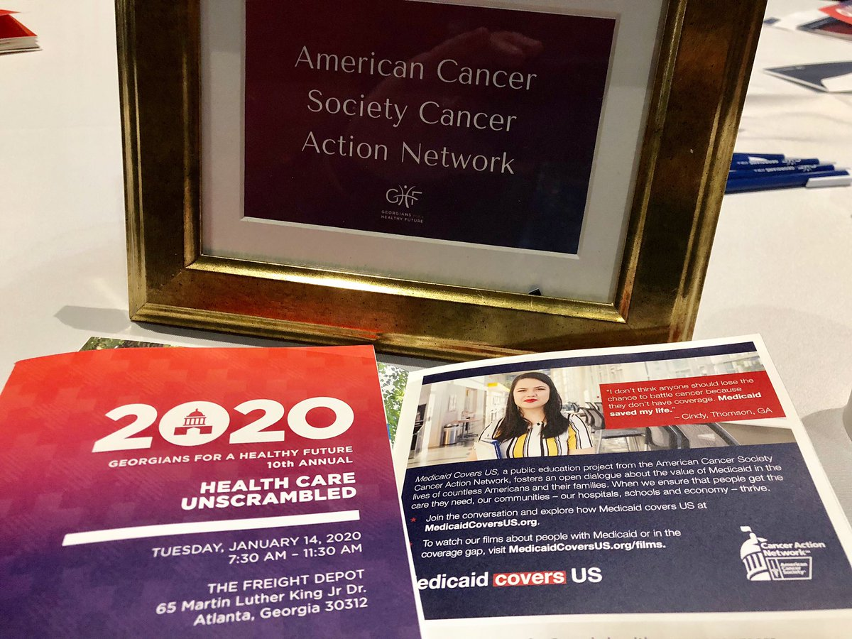 .@ACSCAN Georgia is proud to sponsor @healthyfuturega #HCU2020 through our #MedicaidCoversUs campaign as we fight together to expand healthcare access for all Georgians. <br>http://pic.twitter.com/Bxw0UTaHvh