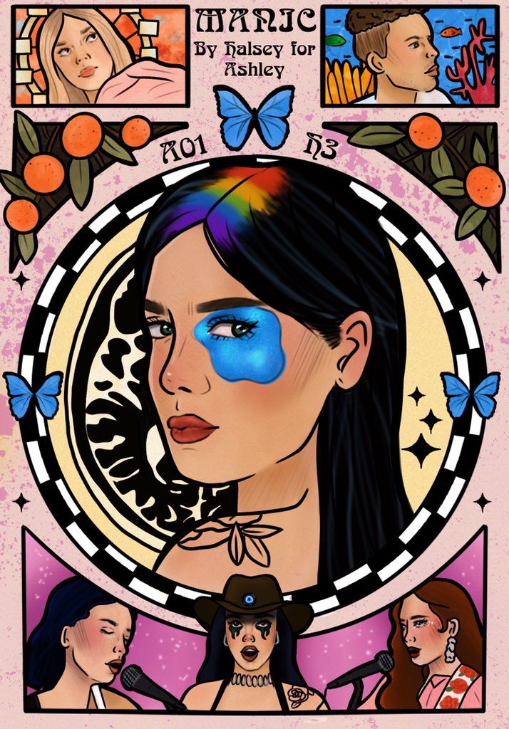 Manic by Halsey for Ashley @halsey #Manic 🦋🍊🧿