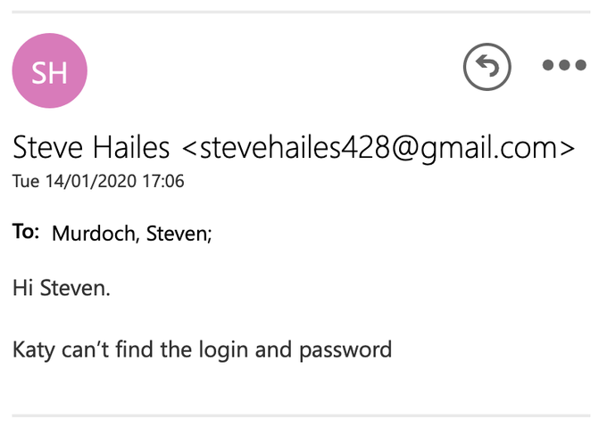 Hi Steven.  Katy can't find the login and password