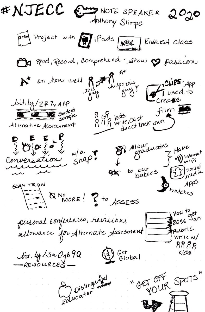Sketch notes for our keynote  #njecc2020 <br>http://pic.twitter.com/IdbNW5BnG5