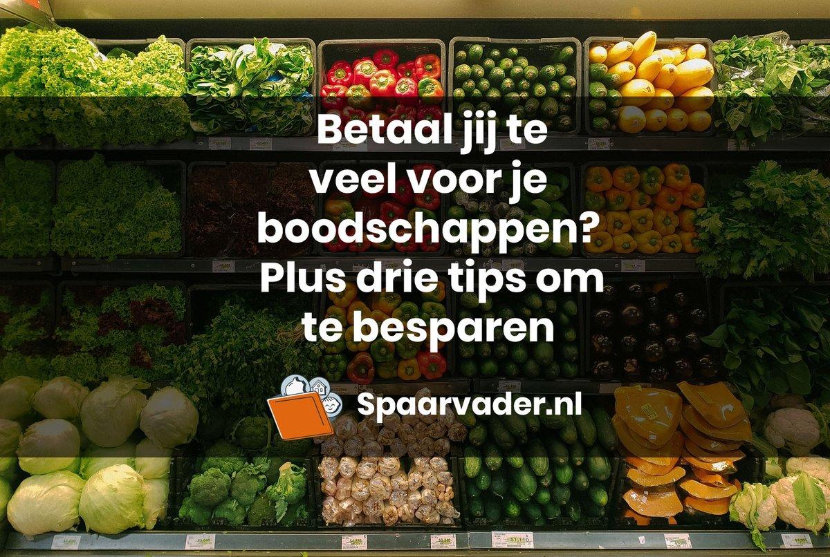 Betaal jij te veel voor je boodschappen? Plus drie tips om te besparen.  #geld #besparen #sparen #boodschappen #supermarkt