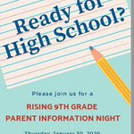 Image for the Tweet beginning: Rising 9th graders—make sure to