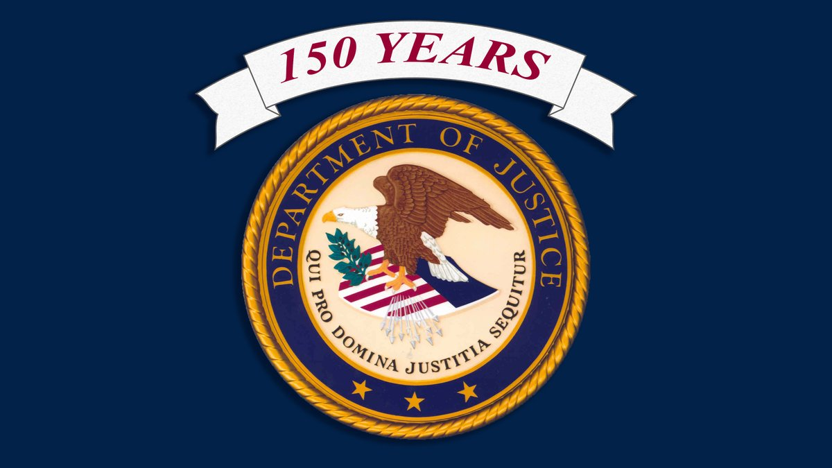 The year 2020 marks the 150th anniversary of the Department of Justice! Follow #DOJ150 and #DOJHistory to learn more about the history of our agency and visit: justice.gov/history