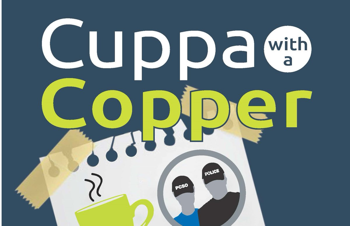 The officers from our @SouthDerbysSNT are inviting the residents of #Repton to join them for a 'Cuppa with a Copper' at the 1557 Coffee Shop in the sports centre of Repton School, Willington Road this thursday. bit.ly/2tfxmU8