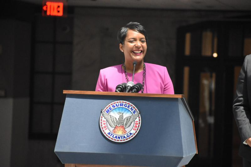 "Atlanta Mayor @KeishaBottoms created the Office of Inspector General, which ""will serve as an independent set of eyes, ears and teeth to root out misconduct and waste in a manner that is completely separate from any political influence."" bit.ly/2QVXvk9 #gapol"