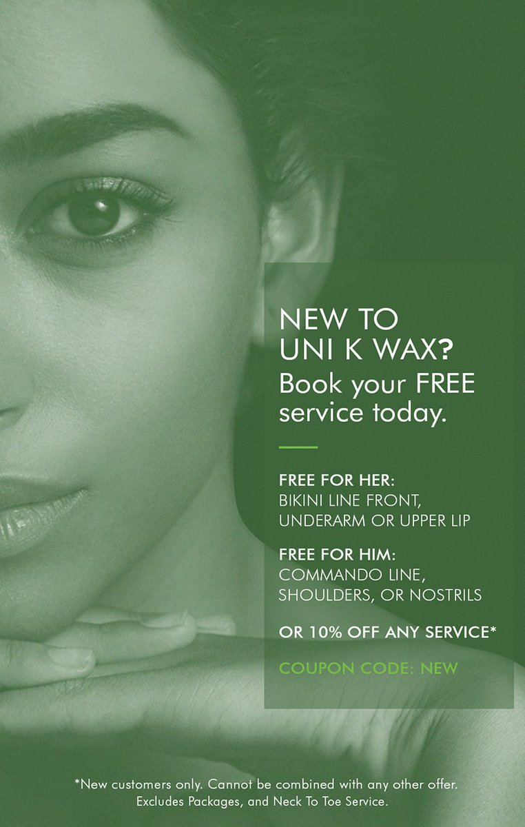 New customers get to book a FREE service at @unikwaxstudios (Jersey City)! @unikwaxstudios (Jersey City) is a Street Fair and Farmers Market sponsor.#jerseycity #waxing #manscape 📷: @unikwaxstudios