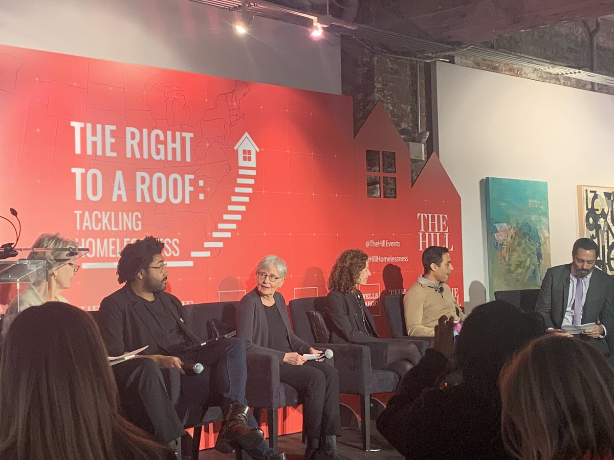 Marc Dones #nationalinnovationservice, Aldo Hurtado @THELAYC, Dr. Jill Khadduri @abtassociates, Nan Roman @naehomelessness, and @ZLauraJeanne take the stage together @TheHillEvents #thehillhomelessness @Rafael_Bernal_<br>http://pic.twitter.com/qWUibftWnq