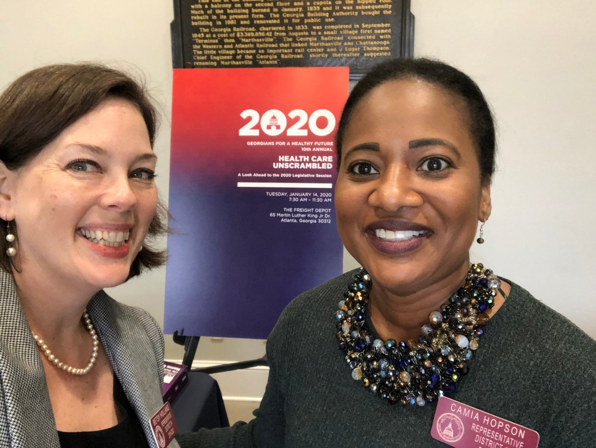 I thoroughly enjoyed the lively conversation at the Georgians for a Healthy Future's 10th annual Healthcare Unscrambled Breakfast. Topics ranged from surprise billing to maternal mortality to Medicaid expansion. We have so much to do to improve healthcare for Georgians! #HCU2020 <br>http://pic.twitter.com/ASV2h9efXu