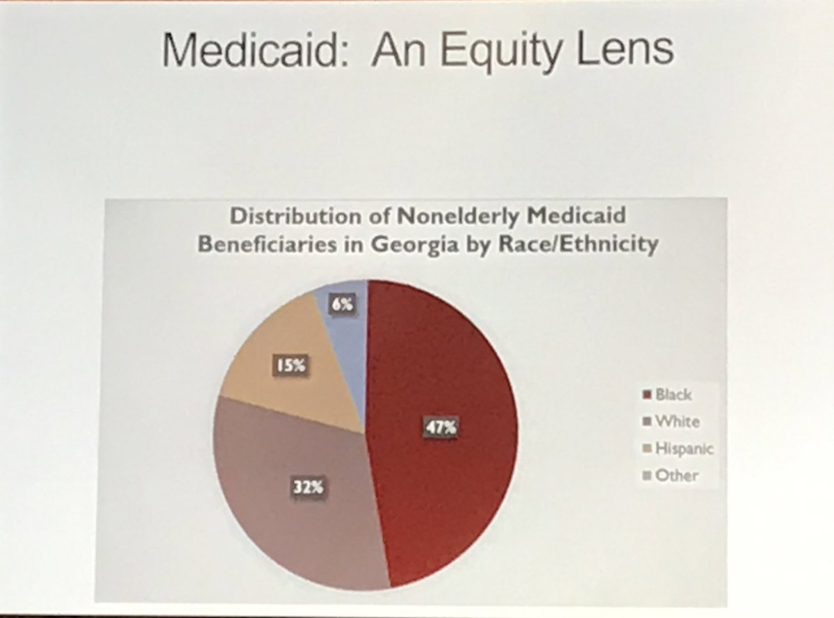 """Dr. Jamila Michener @povertyscholar  on politics of Medicaid. """"Oodles of evidence that it is structurally more difficult for these folks to find work.""""  """"Race matters."""" @HealthyFutureGA #HCU2020 <br>http://pic.twitter.com/YaraIUyhSC"""